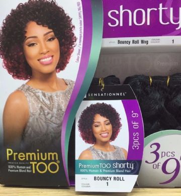 ENVY TWIST - SENSATIONNEL TOO SHORTY HH, PREMIUM BLEND HAIR 3PCS 9""